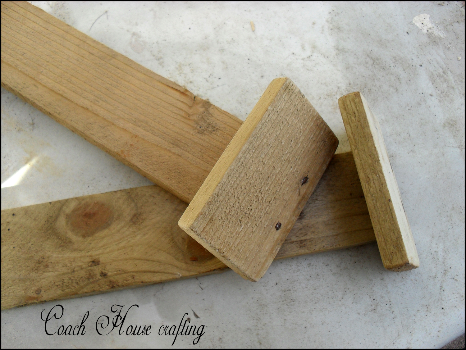 Coach House Crafting on a budget: Scrap wood plant labels