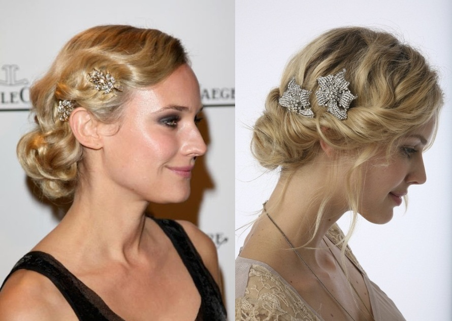 Bridesmaid hairstyles side swept bun