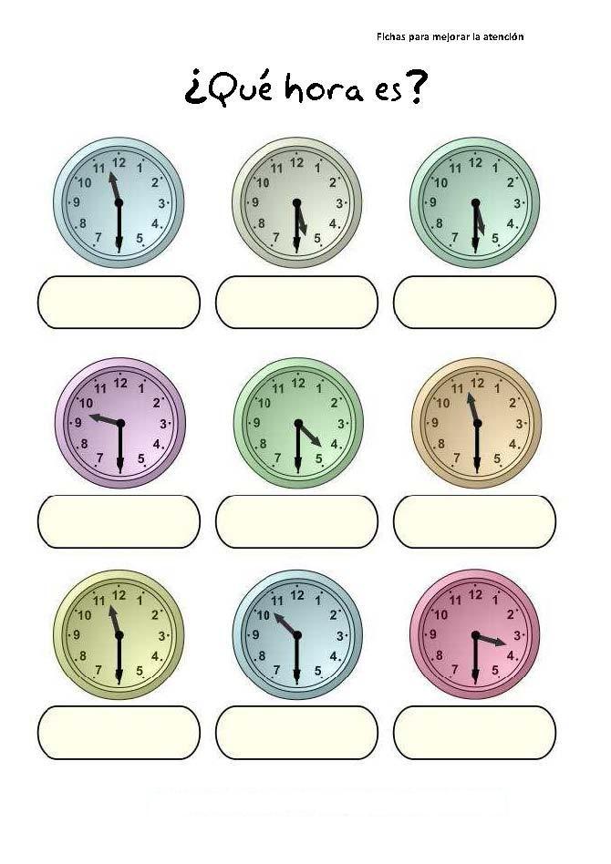 Mis cosas de maestra el tiempo horas y minutos - Tiempo en puertollano por horas ...