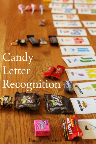 http://www.readingconfetti.com/2013/11/candy-letter-recognition-game.html