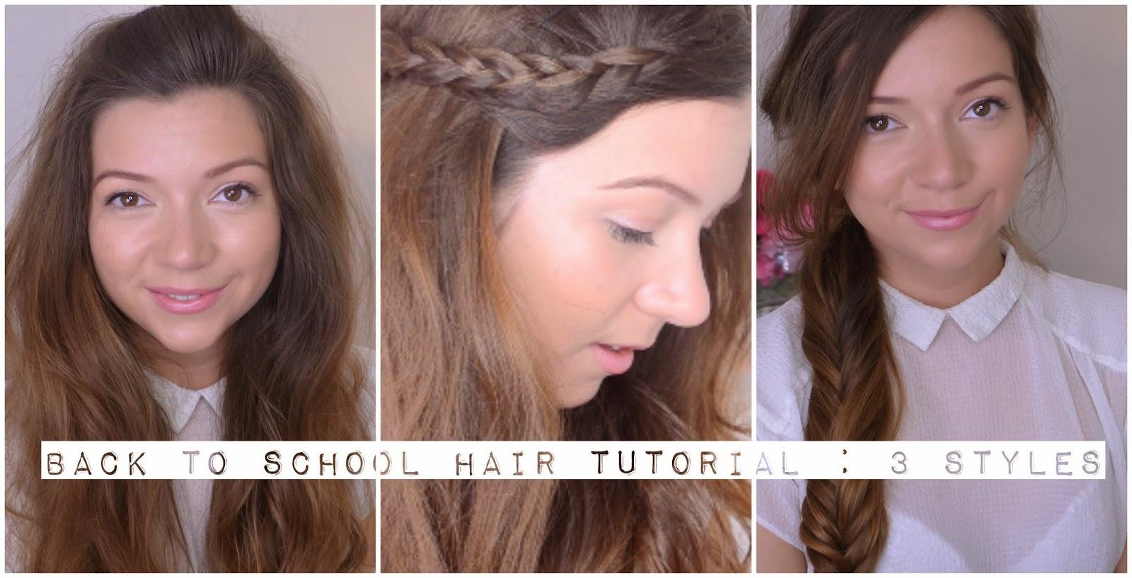 Video Back To School Hair Tutorial Dizzybrunette