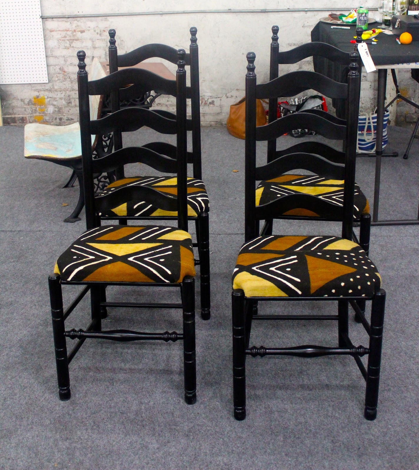 diy furniture restoration with african prints african prints in fashion. Black Bedroom Furniture Sets. Home Design Ideas