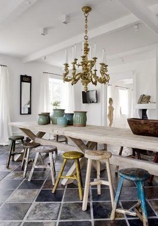 Ny färg på vägg I köket skall de bli, grön är skönt. Eller??