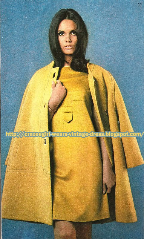 Wool yellow cape - Basta - 1967 60s 1960