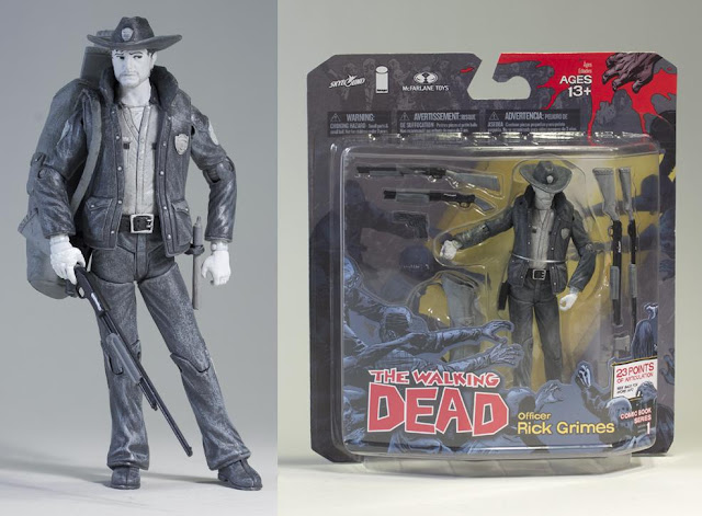 Toys R Us Exclusive Black and White Rick Grimes The Walking Dead Action Figure by McFarlane Toys
