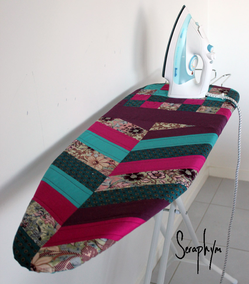 updated quilted ironing board cover tutorial. Black Bedroom Furniture Sets. Home Design Ideas