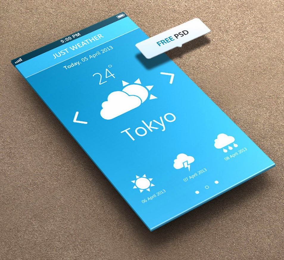 Just Weather for iPhone 5 Retina Ready