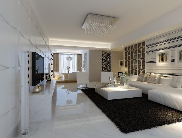 Mẫu trần thạch cao phòng khách chung cư hiện đại