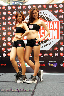 Lisha Ho and Merveen Tan - MIMMA Grand Finals weigh-ins Ring Girls