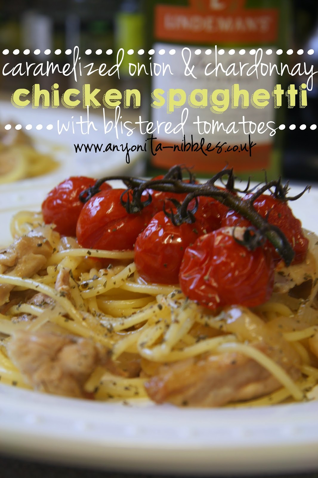 A sophisticated end of summer spaghetti dish made from Lindeman's chardonnay from www.anyonita-nibbles.co.uk