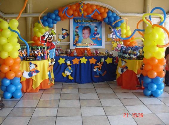 Festilandia Fiestas Intantiles: Decoración del Pato Donald