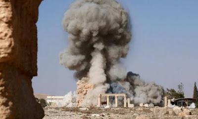 Destruição do Templo de Palmira 2015