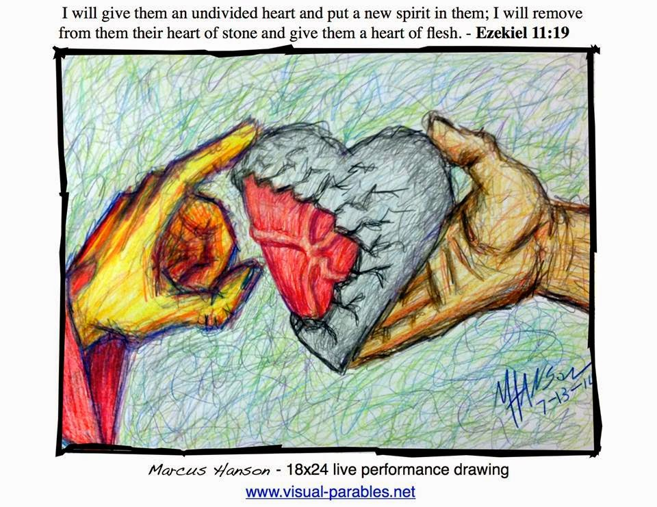 jesus healing a heart of stone