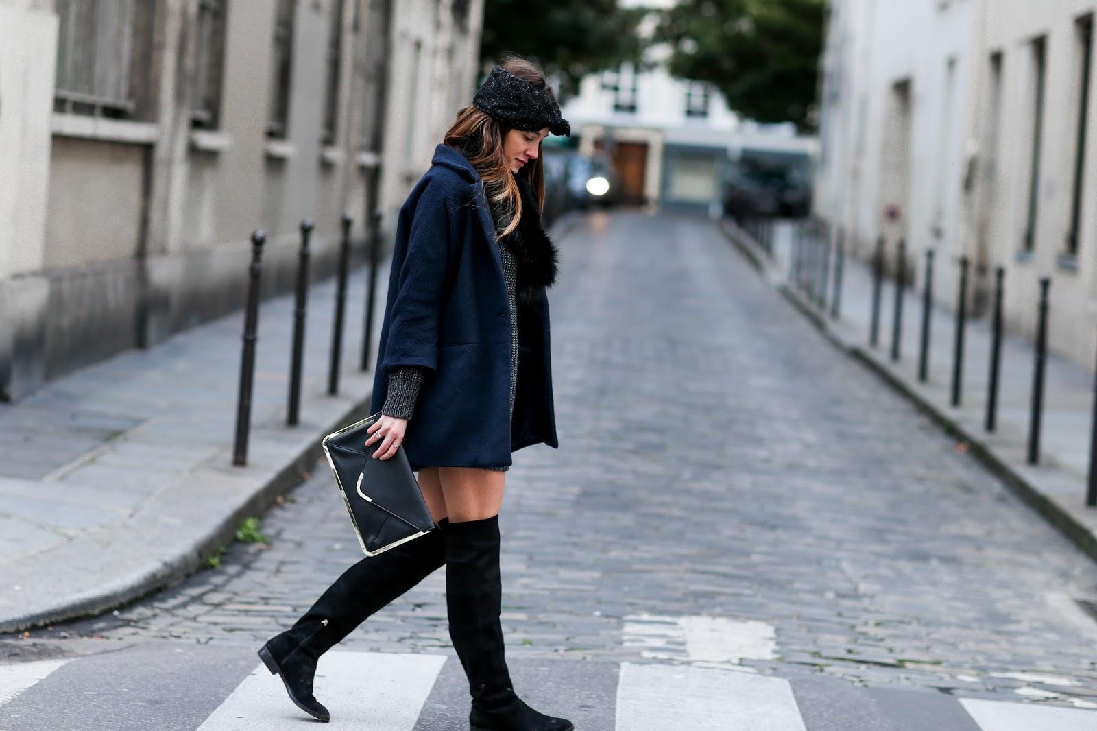 Un look très féminin pour l hiver, une robe en maille bien chaude avec une  écharpe en laine style fourrure. Un look facile pour tous les jours, ... 456fb698f26c