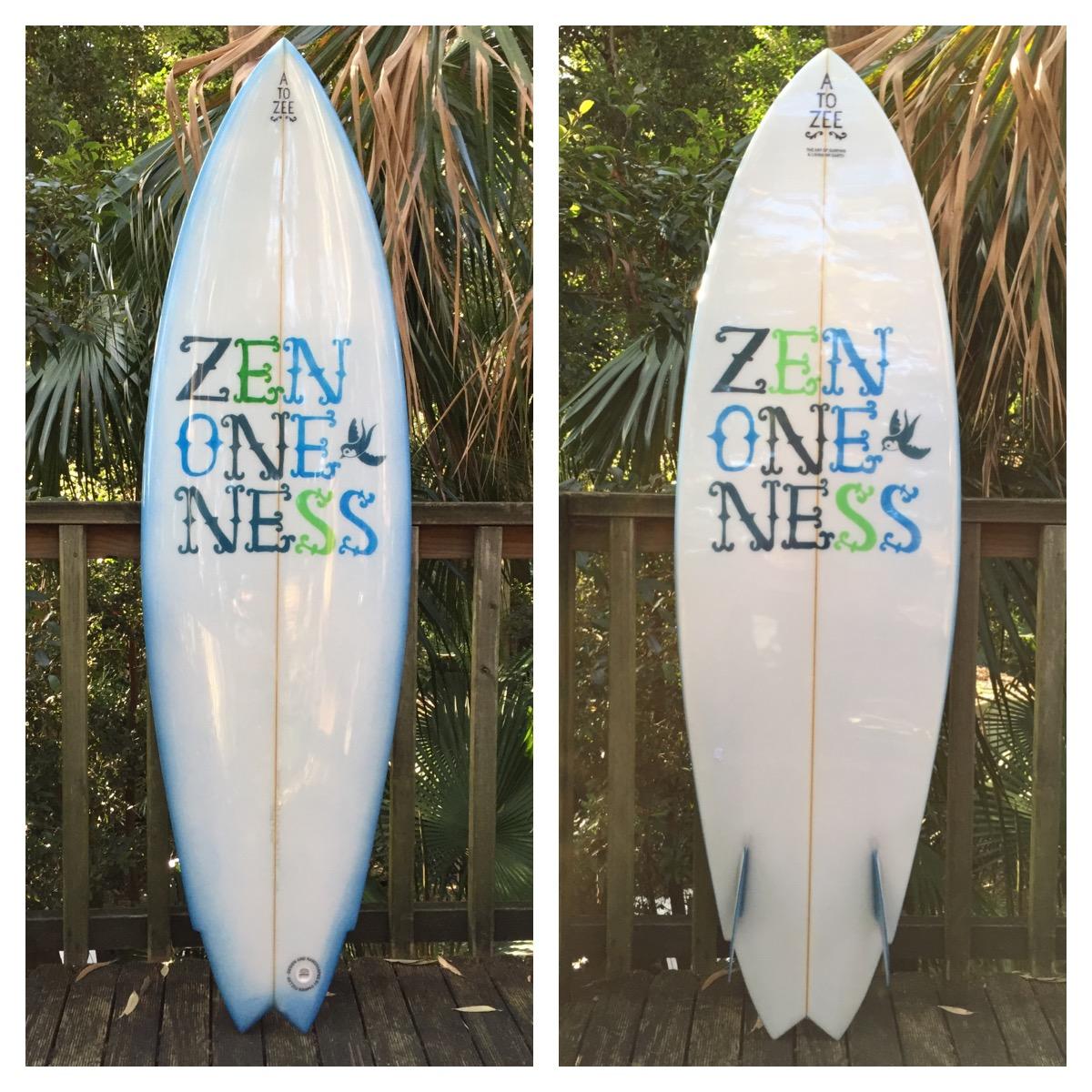 Model 4- Zen Oneness twin fin.