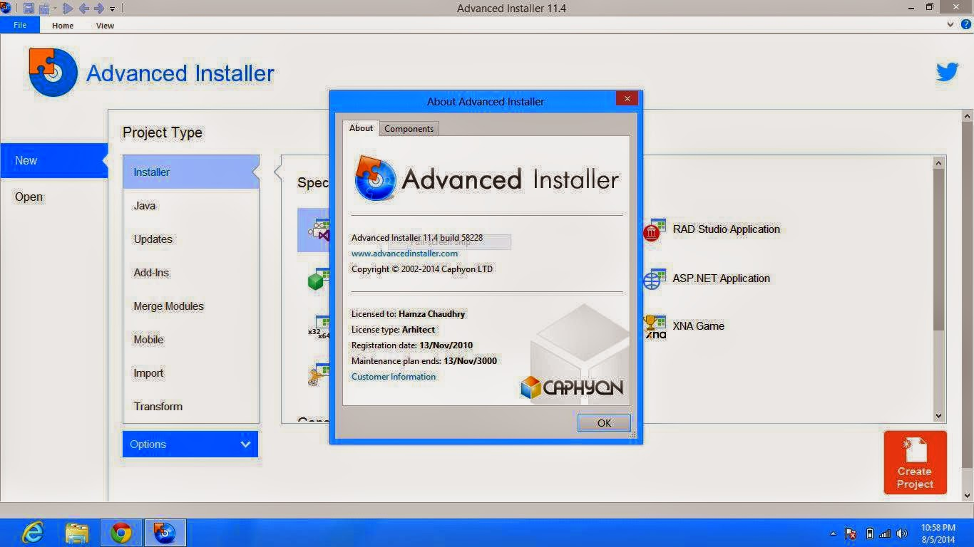 Download Advanced Installer Architect 11.4 Full Patch Terbaru