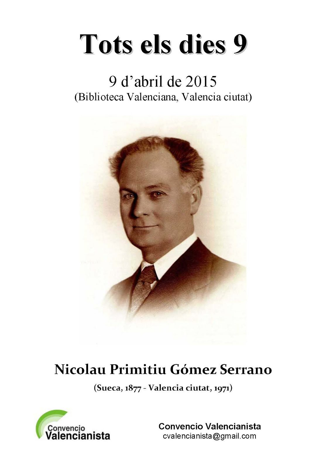 09.04.15 TOTS ELS DIES 9, HOMENAGE A NICOLAU PRIMITIU GÓMEZ SERRANO