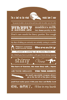 firefly quotes on an illustrated poster