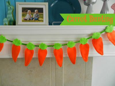 DIY Carrot Bunting