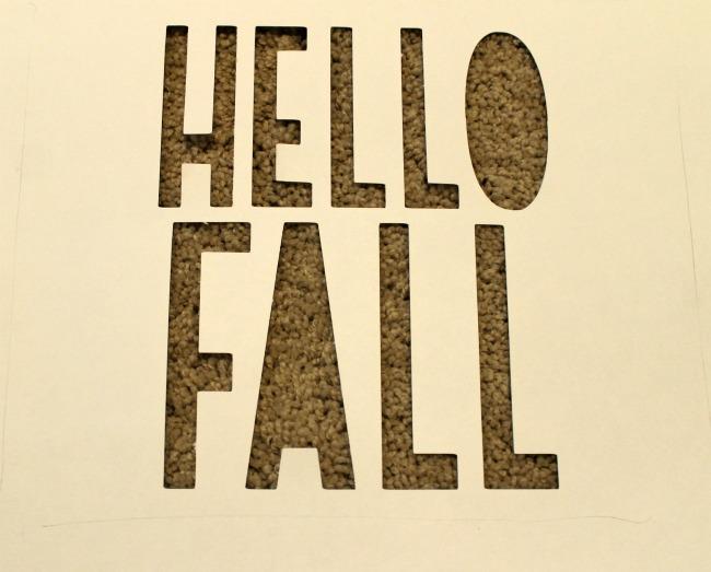 Ikat Hello Fall Cricut Sign