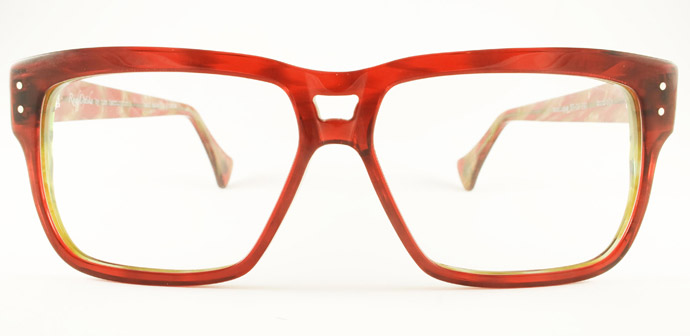 Rock Optika eyewear collection: Mustique glasses in Bordeaux and olive