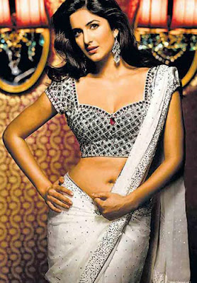 Katrina Kaif In White Saree