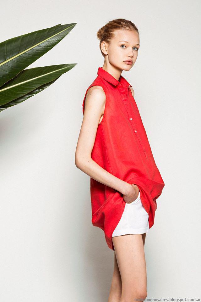 Moda verano 2016 Akiabara camisas y blusas. Tendencias de moda verano 2016.