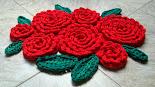 Tapete/Centro de Mesa Rosas Vermelhas