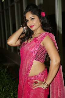 Actress Madhavi Latha Pictures in Pink Saree at Mosagallaku Mosagadu Audio Release Function  11.JPG