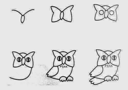 Easy Way How To Draw Sketches Of Animal Figures Step By For Kids