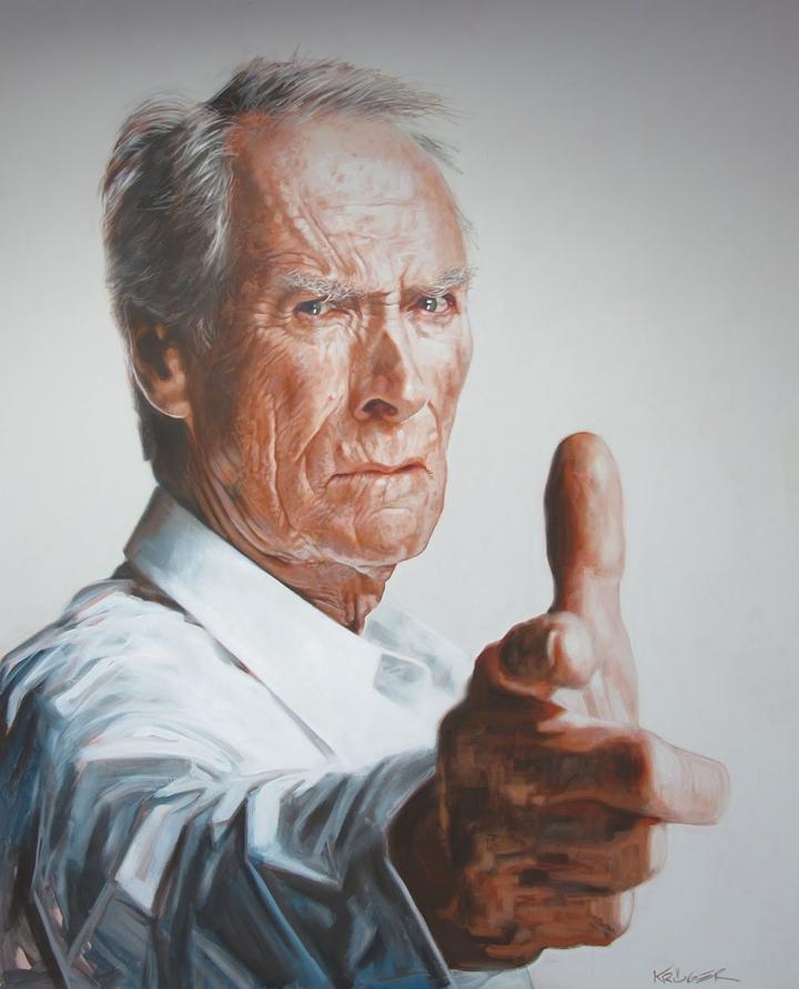 Clint Eastwood - New Pop Realism - Sebastian Krüger 1963