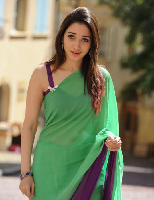 tamanna in green saree unseen pics
