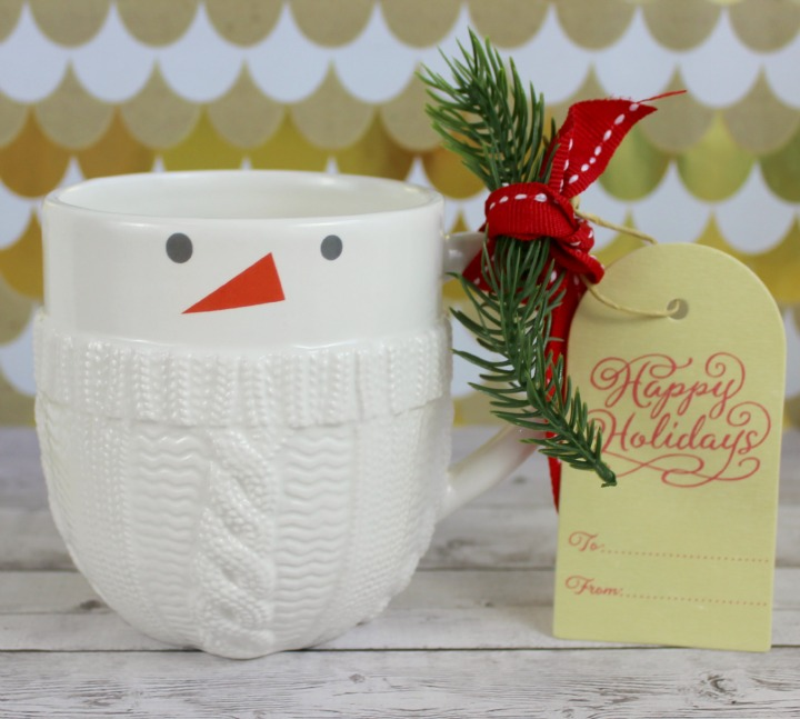 Hallmark Gold Crown Cozy Snowman Mug