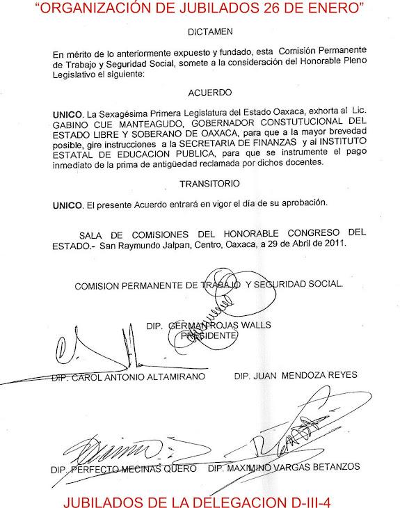 GOBIERNO DEBERAN PAGAR PRIMA DE ANTIGUEDAD A JUBILADOS DEL IEEPO