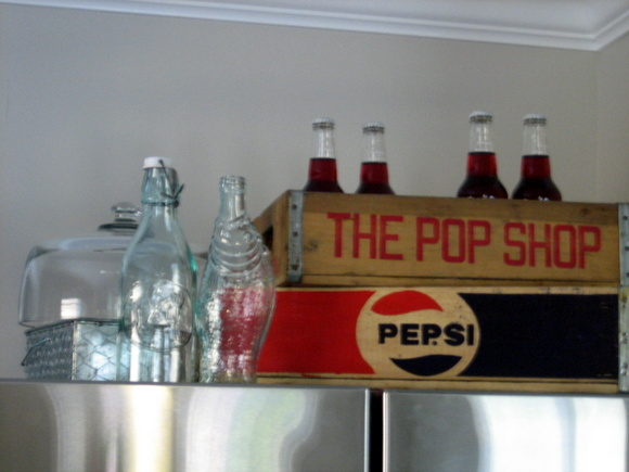 "Here it is - ""The Pop Shop"" Above my fridge. Goodby awkward space, hello fun decor!"