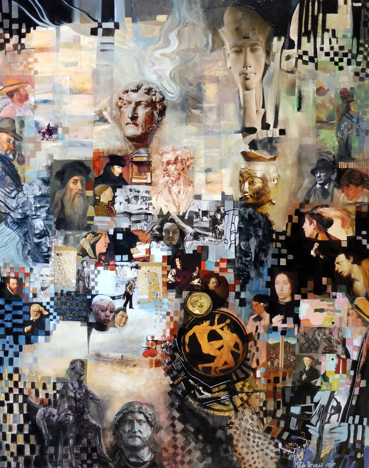 Histoires d'hommes - 73 x 92 cm - 2020