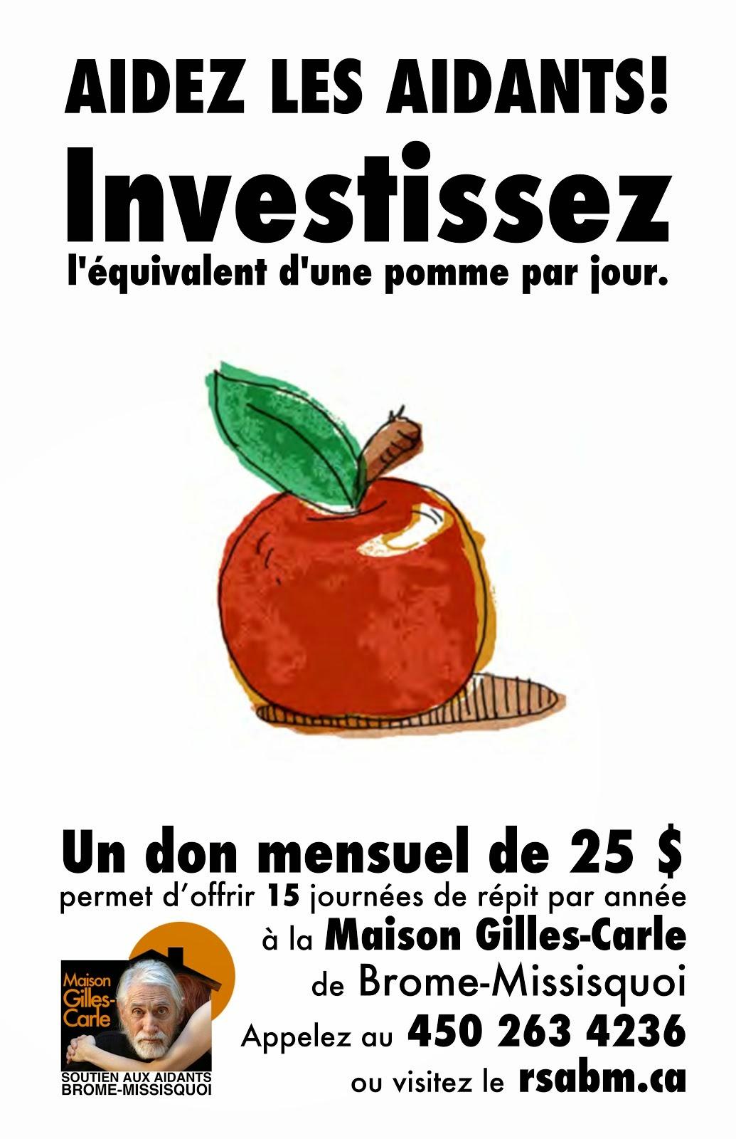 Investissez l&#39;équivalent <br>d&#39;une pomme par jour