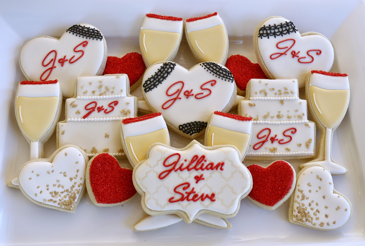 elegant bridal shower cookies
