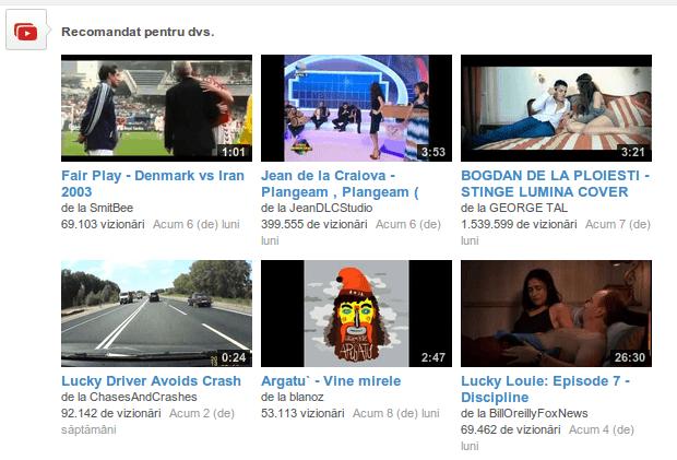 youtube recomandare