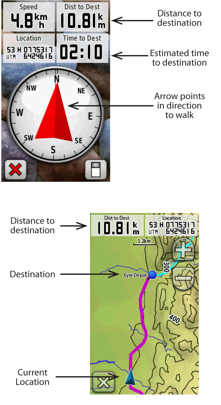 once loaded onto the gps receiver you will see the 12 tracks under the track manager menu for garmin receivers if you select the relevant track and