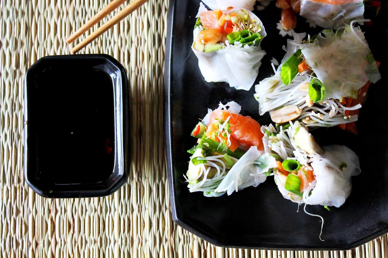 Beautiful food photography   Alinan kotona blog #asianfood #ricepaperrolls #springrolls #photography