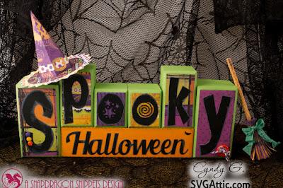 Spooky Halloween block set