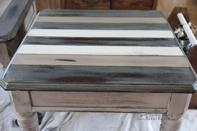 Fusion Mineral Paint SideTable Redo, Bliss-Ranch.com