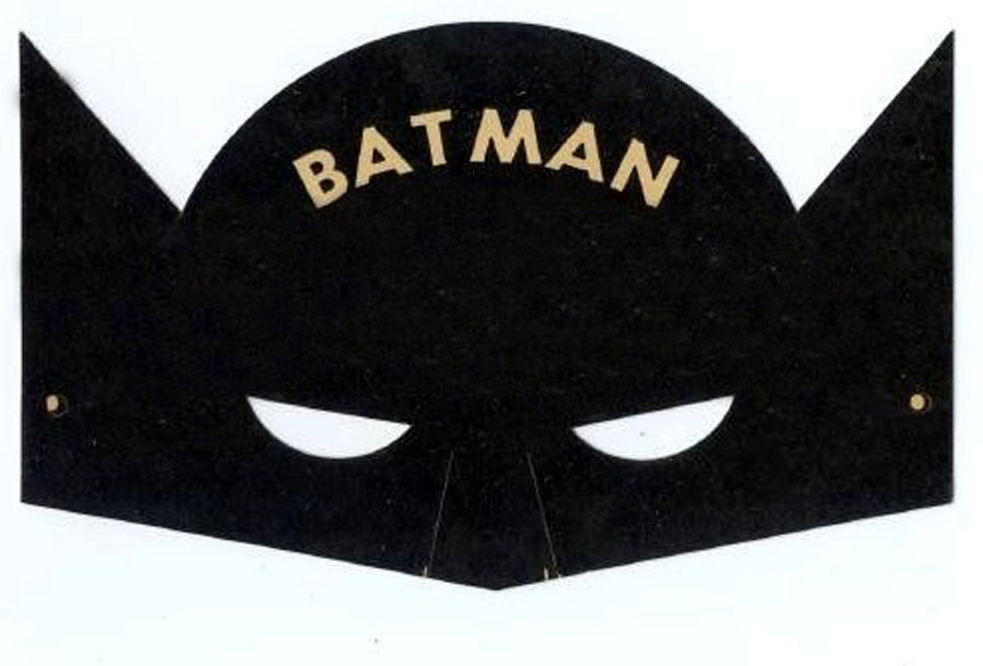 Batman Mask Cut Out The above is a vintage batman