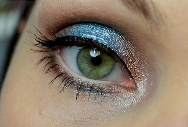 Make-up Blau Braun