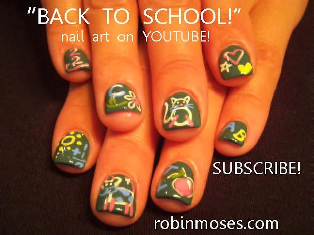 """robin moses nail art """"scrabble"""