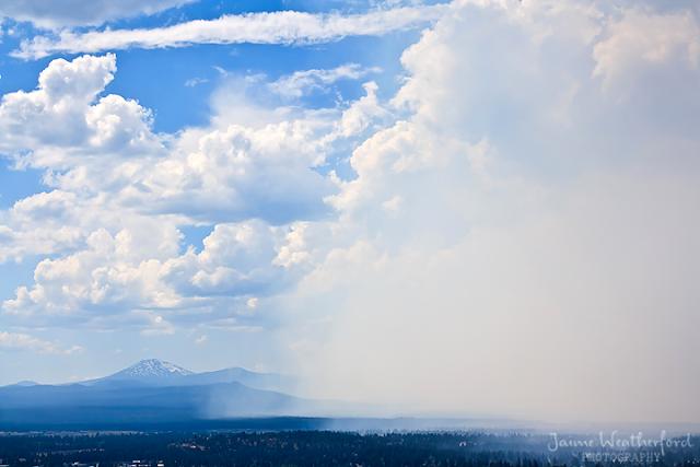 Bend Oregon wildfire smoke Jaime Weatherford