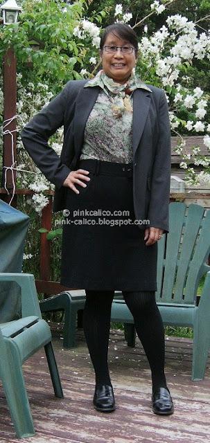 Pink Calico: Grey Jacket