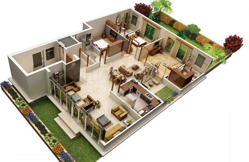 3D House Plans Concept 4
