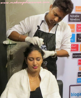 Scalp Facial Nioxin in India, Experience at Nalini and Yasmin, Nioxin Scalp Dermabrasion Treatment